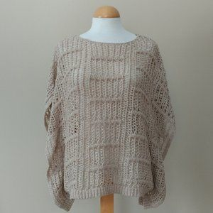 [Chico's] Loose Weave Lightweight Poncho Sweater